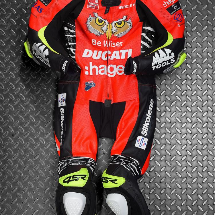4SR racing leathers NW200 Alastair Seeley PBM BeWiser Ducati