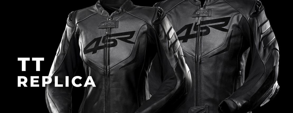 4SR - damska i męska sportowa kurtka motocyklowa z garbem TT Replica Black Series