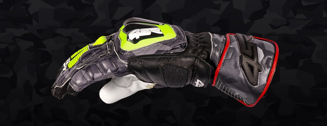 4SR obleceni pro motorkare rukavice Camo