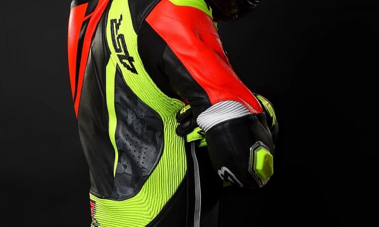 4SR - jednoczęściowy kombinezon motocyklowy Racing Neon AR - Airbag-Ready 05