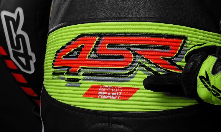 4SR - jednoczęściowy kombinezon motocyklowy Racing Neon AR - Airbag-Ready 07