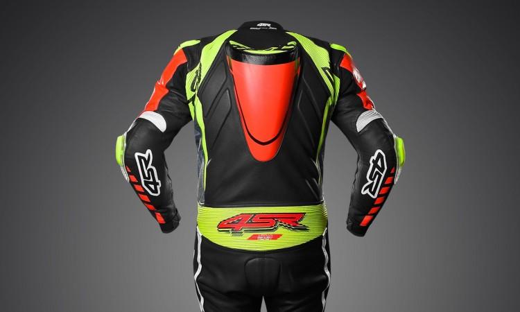 4SR - jednoczęściowy kombinezon motocyklowy Racing Neon AR - Airbag-Ready 03