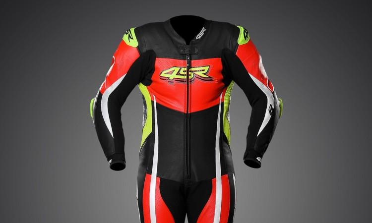 4SR - jednoczęściowy kombinezon motocyklowy Racing Neon AR - Airbag-Ready 02
