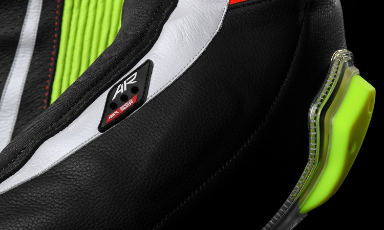 4SR - jednoczęściowy kombinezon motocyklowy Racing Neon AR - Airbag-Ready 06